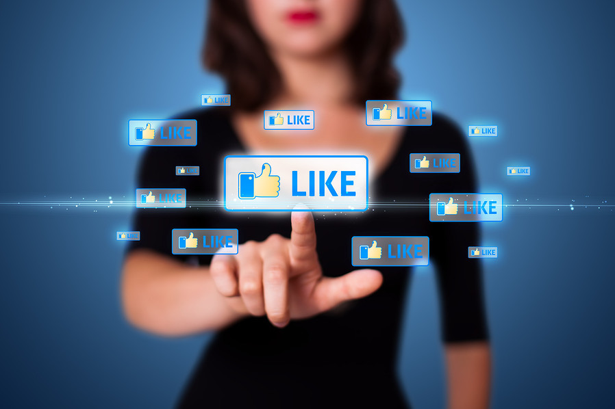 Facebook likes on the web